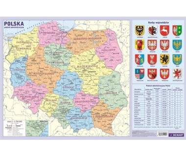 Polska mapa administracyjna podkładka