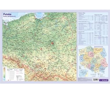 Polska mapa fizyczna podkładka