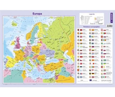 Europa mapa polityczna podkładka