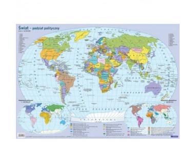 Świat mapa polityczna na biurko, na ścianę