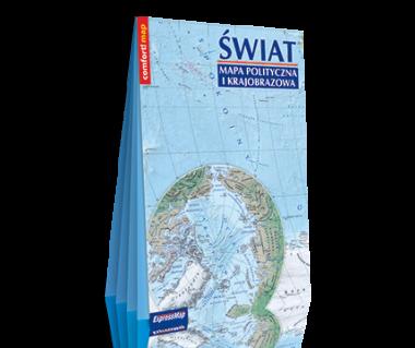 Świat. Mapa polityczna i krajobrazowa