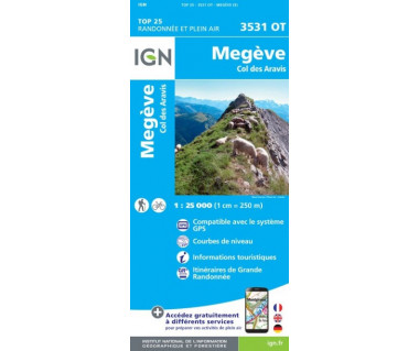 IGN 3531 OT Megeve, Col des Aravis