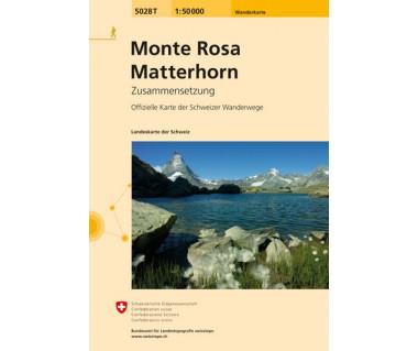 Monte Rosa, Matterhorn - Mapa turystyczna