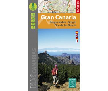 Gran Canaria - Roque Nublo-Güigüi, Pico de las Nieves (kpl. 5 map)