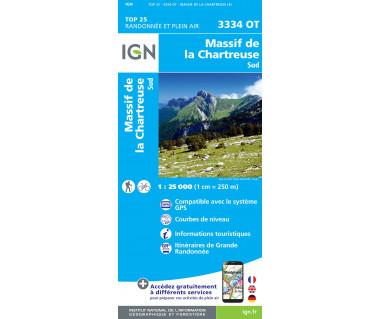 IGN 3334 OT Massif de la Chartreuse Sud