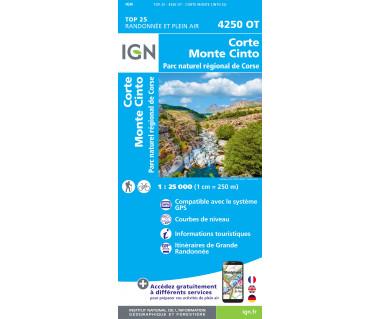 IGN 4250 OT Corte / Monte Cinto / PNR de Corse
