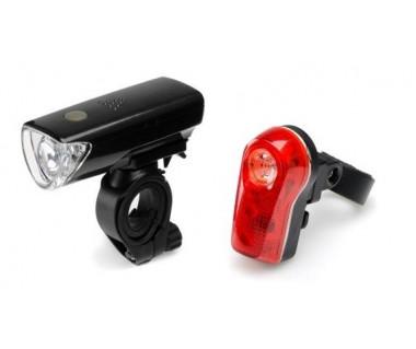 Lampa rowerowa LED L-FN3-1L.2 zestaw