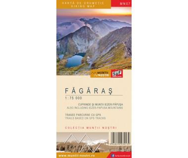 Fagaras harta de drumetie/hiking map