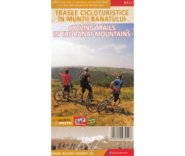 Cycling Trails in the Banat Mountains zestaw map