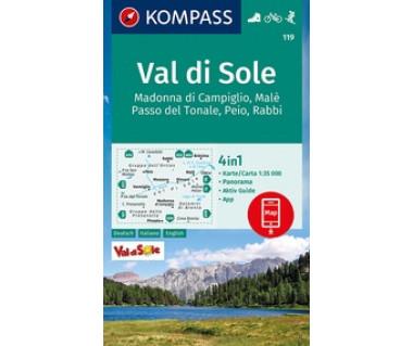 K 119  Val di Sole, Madonna di Campiglio, Malè, Passo del Tonale, Peio, Rabbi