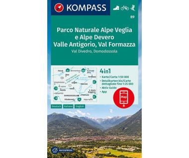 K 89  Parco Naturale Alpe Veglia e Alpe Devero, Valle Antigorio, Val Formazza, Val Divedro, Domodossola