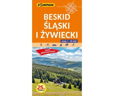 Beskid Śląski i Żywiecki mapa laminowana