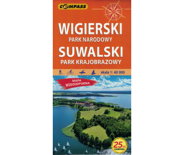 Wigierski Park Narodowy, Suwalski Park Krajobrazowy mapa laminowana
