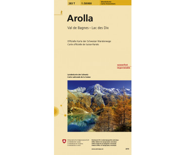 Arolla - Mapa turystyczna