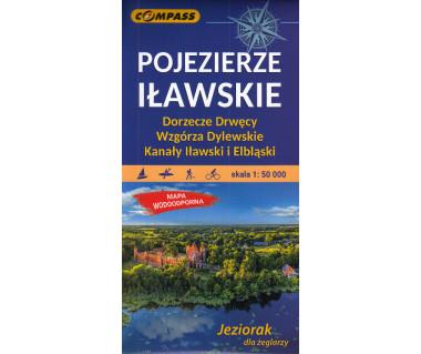 Pojezierze Iławskie, Wzgórza Dylewskie mapa foliowana