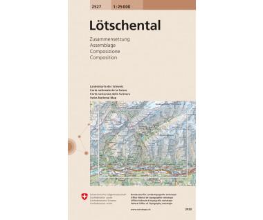 Lotschental - Mapa turystyczna