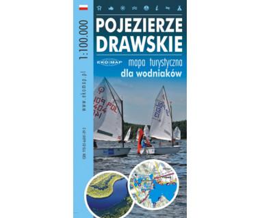 Pojezierze Drawskie - mapa turystyczna dla wodniaków