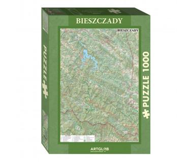 Puzzle 1000 Bieszczady mapa turystyczna