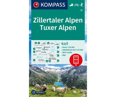 K 37 Zillertaler Alpen, Tuxer Alpen
