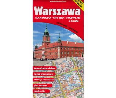 Warszawa plan foliowany