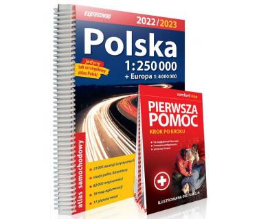 Polska atlas samochodowy (+pierwsza pomoc) 2022/2023