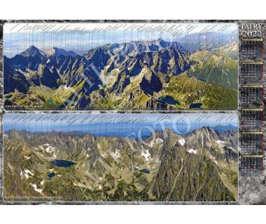 Kalendarz ścienny Tatry w panoramie 2022