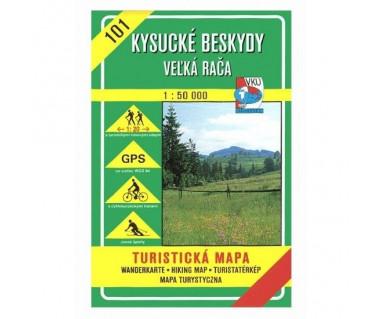 S101 Kysucke Beskydy-Velka Raća - Mapa turystyczna