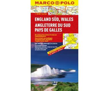 Southern England, Wales - Mapa