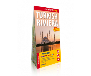 Turkish Riviera road map laminowana
