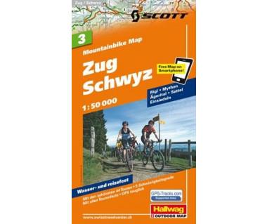 Zug Schwyz (3) Mountainbike Map
