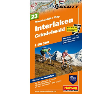 Interlaken, Grindelwald (23) Mountainbike Map