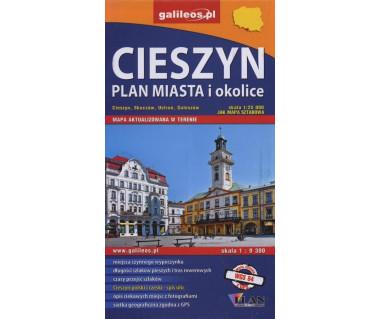 Cieszyn plan miasta i okolice - Mapa turystyczna