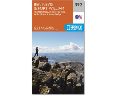 Ben Nevis & Fort William (EXP 392) - Mapa