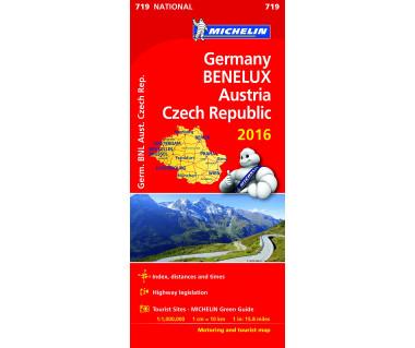 Germany, Benelux, Austria, Czech Republic - Mapa
