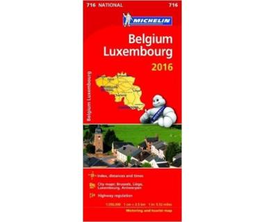Belgium, Luxembourg - Mapa