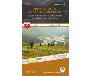 Nikkaluokta / Sarek / Saltoluokta (OUT.02) - Mapa wodoodporna