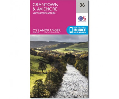 Grantown & Aviemore Cairngorm Mountains  - Mapa