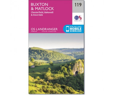 Buxton & Matlock Chesterfield, Bakewell & Dove Dale  - Mapa