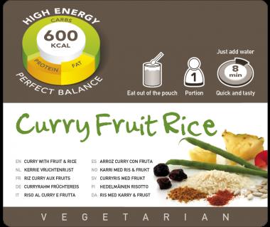 Potrawa AF Ryż curry z owocami vege  600kcal (1 porc.)