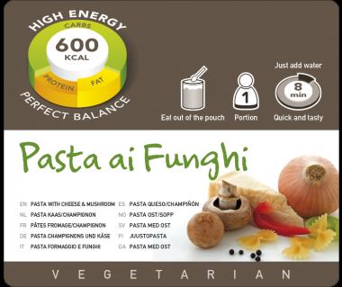 Potrawa AF Makaron z serem i grzybami vege  600kcal (1 porc)