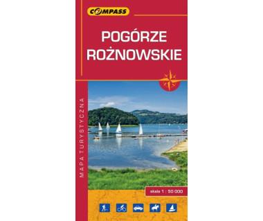 Pogórze Rożnowskie - Mapa turystyczna