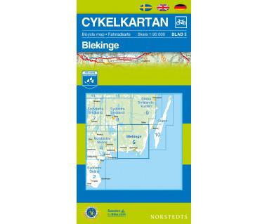 Blekinge cykelkartan 5 - Mapa wodoodporna