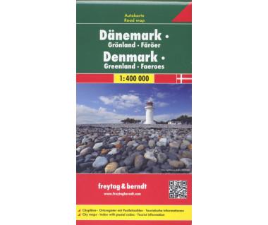 Denmark, Greenland, Faeroes - Mapa