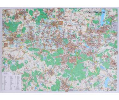 Okręg Katowicki mapa ścienna 127x90 cm