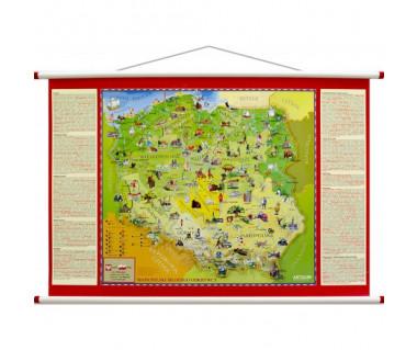 Polska mapa młodego odkrywcy 100x70cm