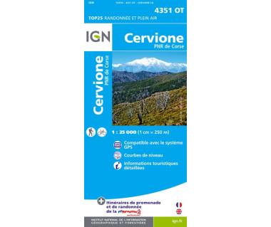 IGN 4351 OT Cervione / PNR de la Corse