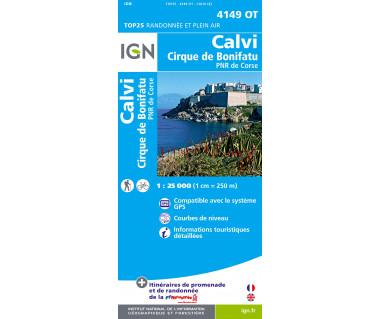 IGN 4149 OT Calvi / Cirque de Bonifatu / PNR de Corse