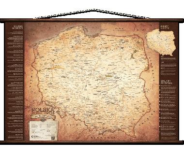 Turystyczna mapa Polski 100x70 cm