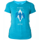 Koszulka damska Outdoor Wool jasnoniebieski