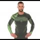 Koszulka Dry LS13080 grafit/czarny,grafit/limonka